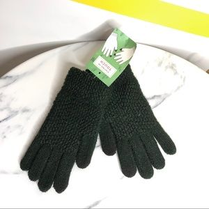 NEW Anthropologie green metallic touchscreen glove